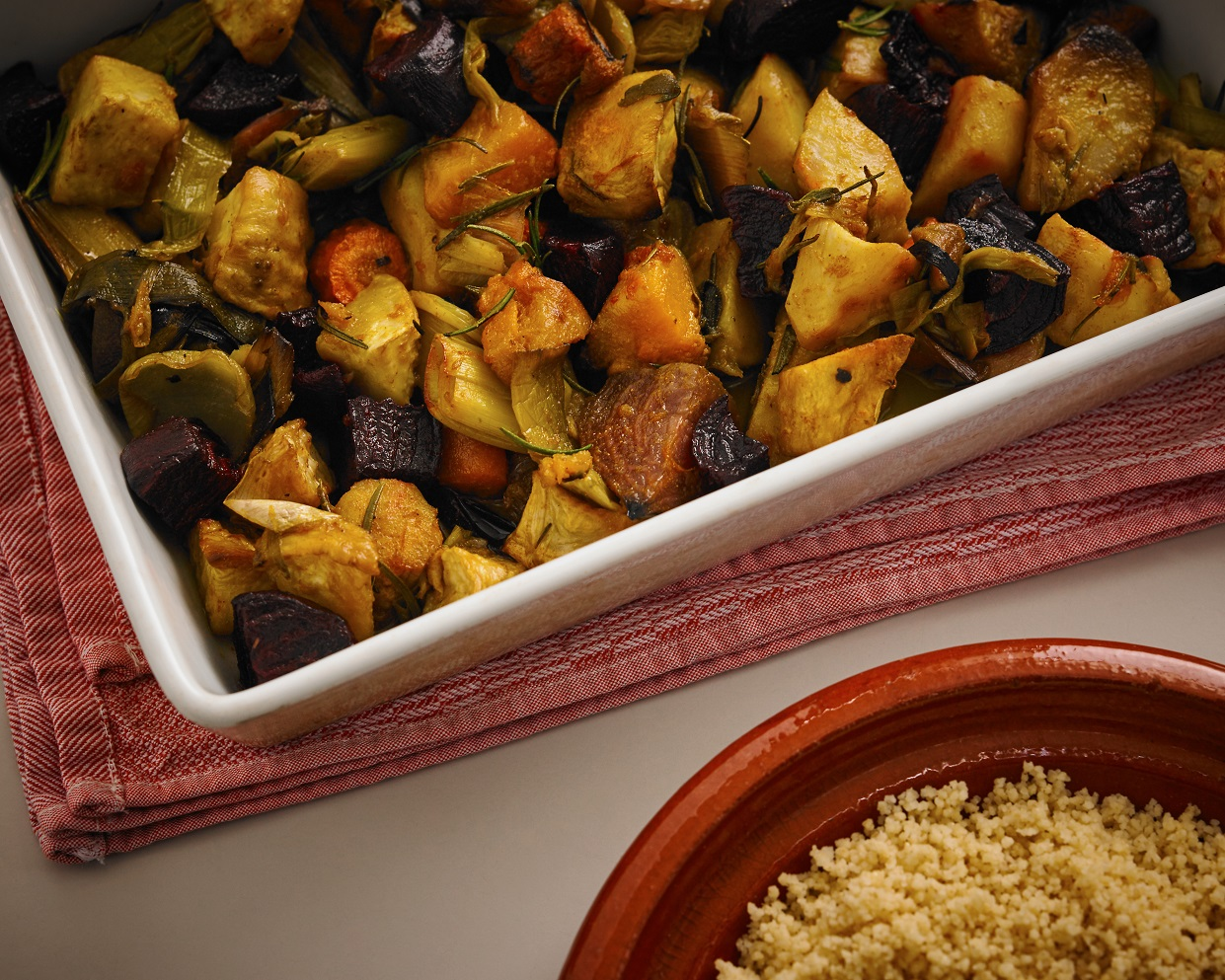 Roasted Vegetables with Couscous