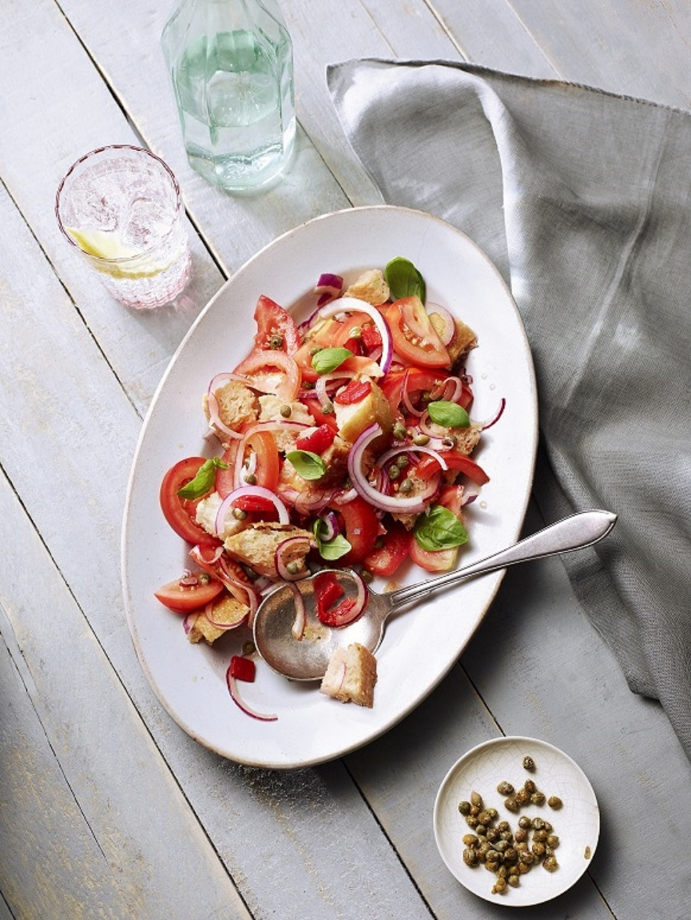 Tomato and Bread Sunshine Salad