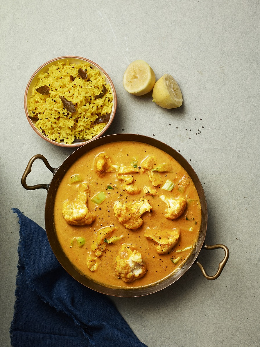 Cauliflower Korma with Lemon Pilau Rice