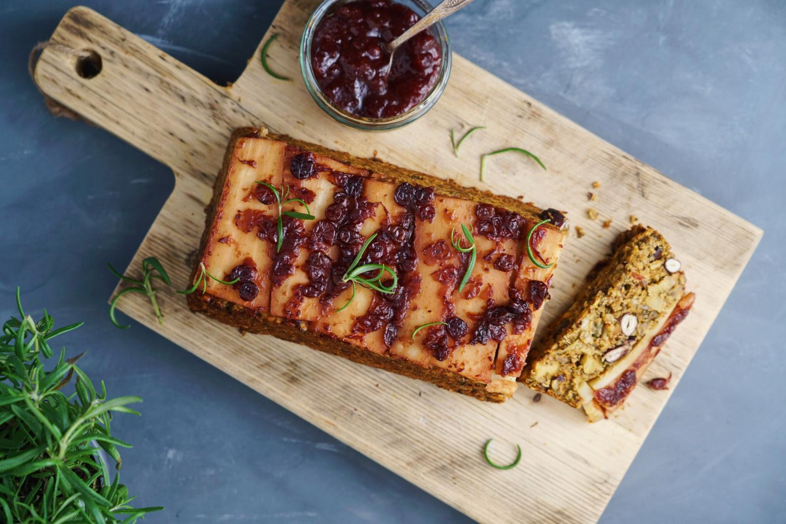 Parsnip and Cranberry Nut-free Nut Roast