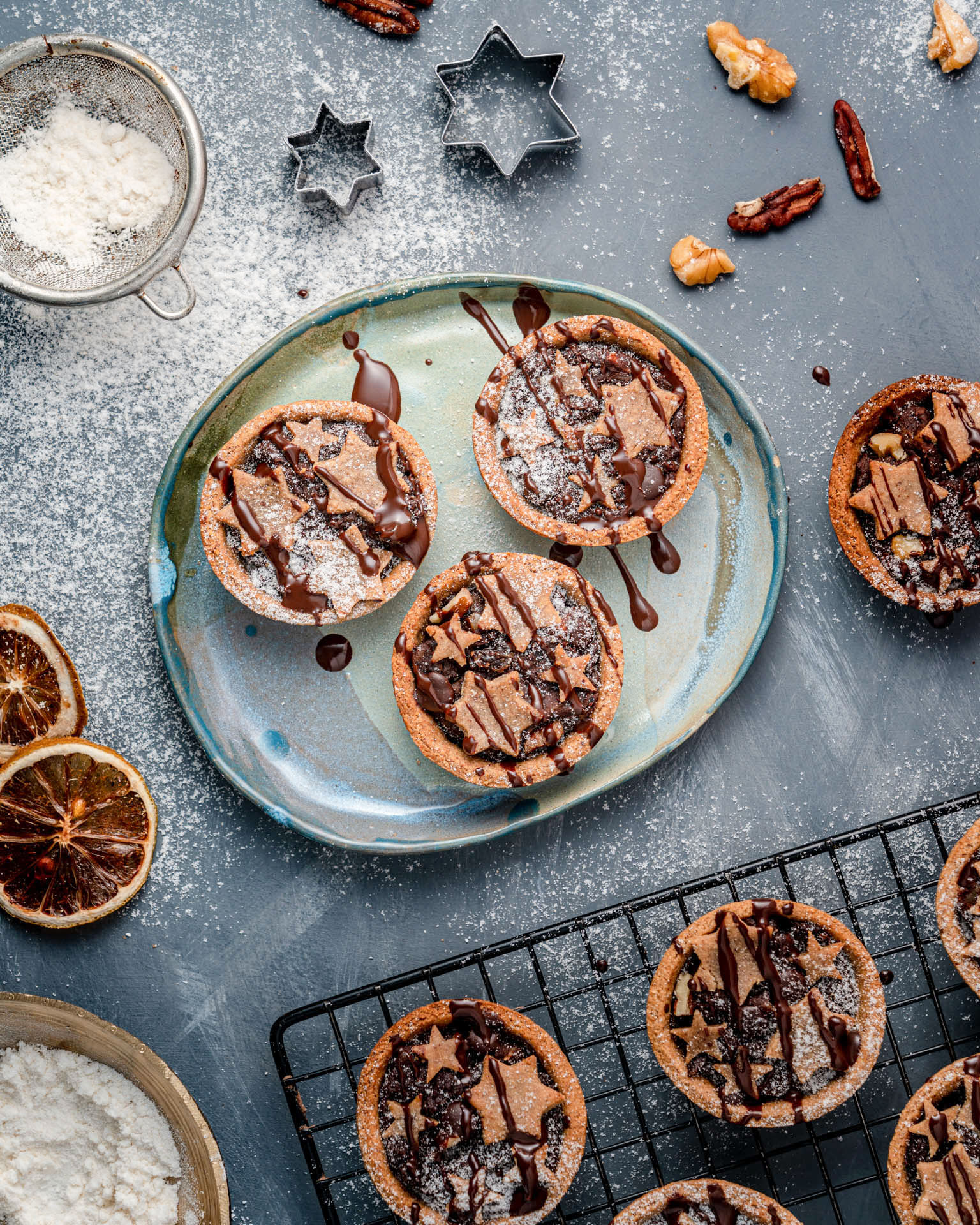 Chocolate Orange No-Mince Pies